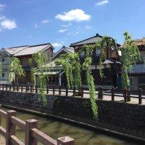 Historic Old Town area in Sawara, Katori