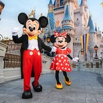 Mickey and Minnie Mouse at Magic Kingdom Park in Orlando (417858804)