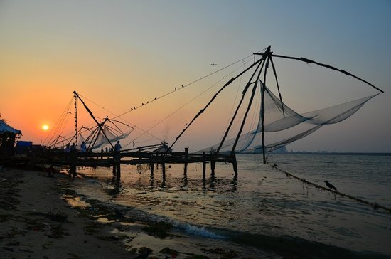Fishing nets at the end of the day. (81351997)