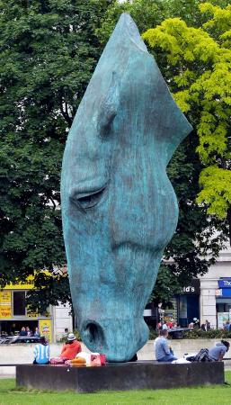 Still Water Horse Head Statue