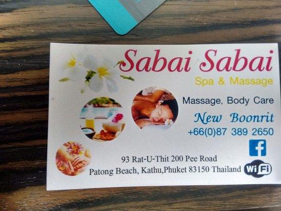 Sabai Sabai Massage